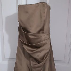 David's Bridal Tan Gown